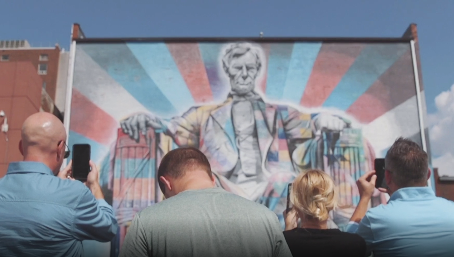 VisitLex Augmented Reality Experience Turning the Lincoln Mural to Life