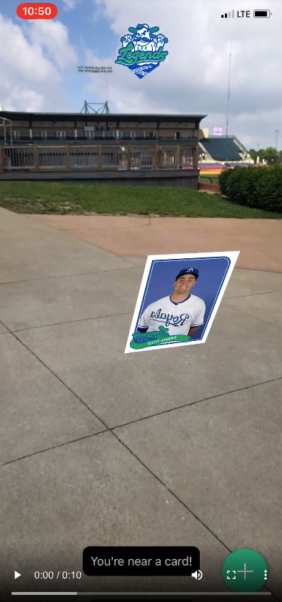 The Lexington Legends Augmented Reality Experience